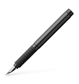 Faber-Castell - Stylo-plume Essentio Black carbone Moyenne