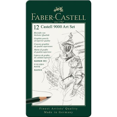 Faber-Castell - Castell 9000 graphite pencil, Art Set, tin of 12