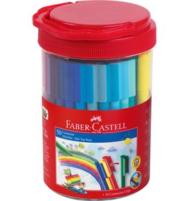 Faber-Castell - Connector felt tip pen set Bucket, 60 pieces