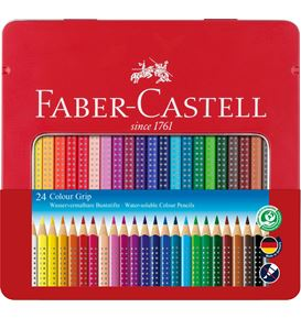 Faber-Castell - Coloured pencil Colour Grip tin of 24