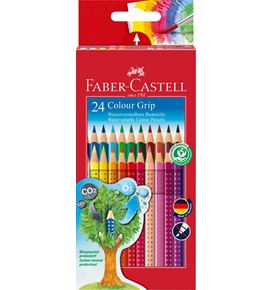 Faber-Castell - Coloured pencil Colour Grip cardboard box of 24