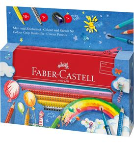 Faber-Castell - Set Colour Grip peindre+dessiner ballon