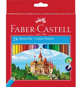 Faber-Castell - Coloured pencils Castle hexagonal cardboard box of 24