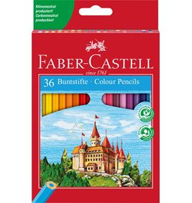 Faber-Castell - Coloured pencil Castle box of 36