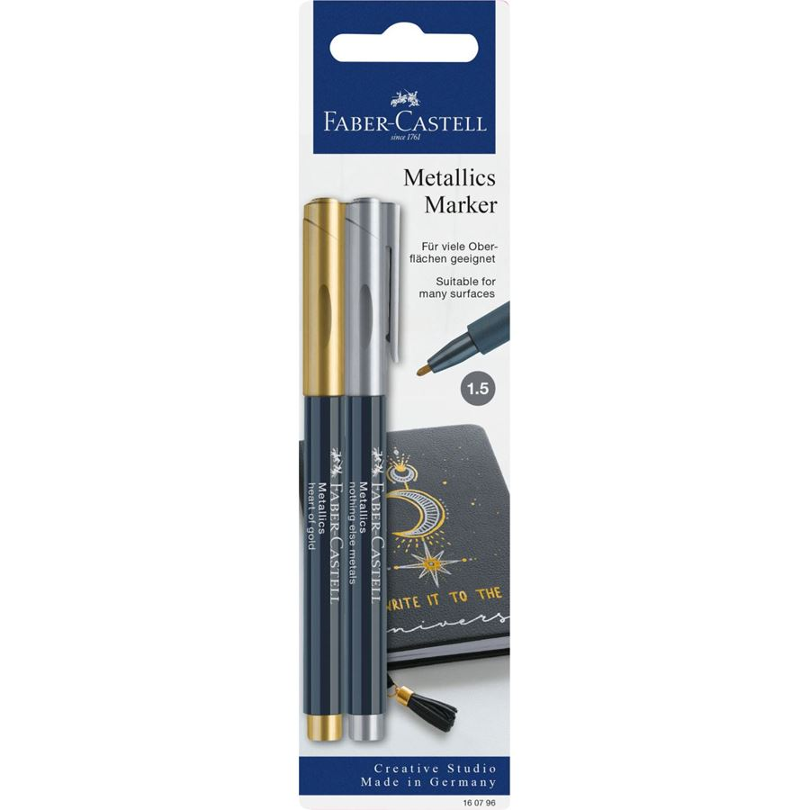 Faber-Castell - Metallics marker heart of gold/nothing else metals
