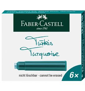 Faber-Castell - Ink cartridges, standard, 6x turquoise