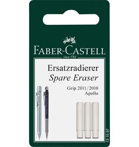 Faber-Castell - Grip 2011 spare erasers for mechanical pencil, set of 3