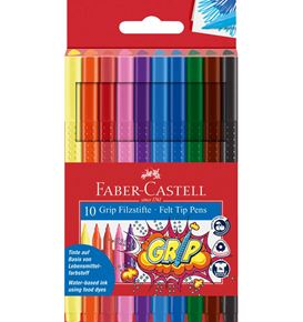 Faber-Castell - Fibre-tip pen Grip Colour Marker plastic case of 10