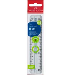 Faber-Castell - Grip ruler 15 cm grey