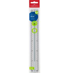 Faber-Castell - Grip ruler 30 cm grey