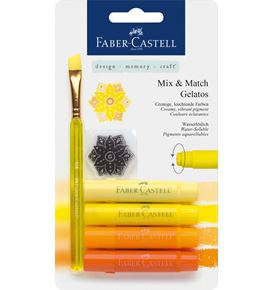 Faber-Castell - Watersoluble crayon Gelatos yellow 6ct set