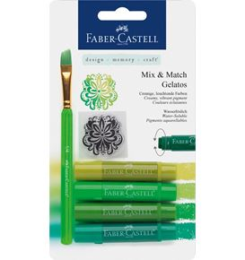 Faber-Castell - Watersoluble crayons Gelatos green 6ct set