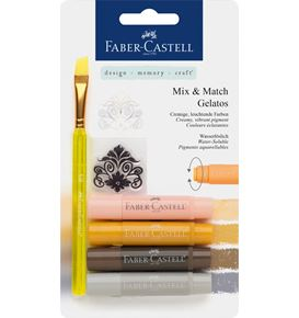 Faber-Castell - Watersoluble crayon Gelatos neutral 6ct set