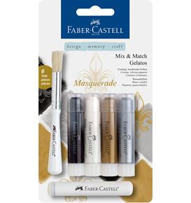 Faber-Castell - Watersoluble crayon Gelatos Masquerade 6ct set
