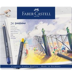 Faber-Castell - Colour pencil Goldfaber metal tin of 24
