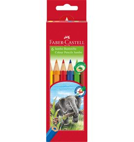 Faber-Castell - Coloured pencil Jumbo hexagonal cardboard box of 6
