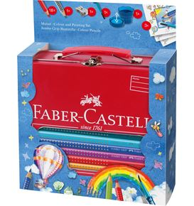 Faber-Castell - Jumbo Grip colouring set Hot-air Balloon, 25 pieces