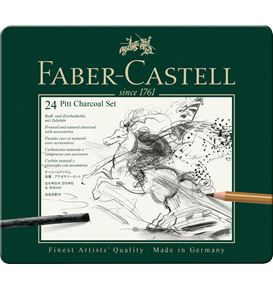 Faber-Castell - Set Pitt Charcoal set tin of 24