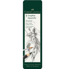 Faber-Castell - Watersoluble pencil Graphite Aquarelle tin of 5