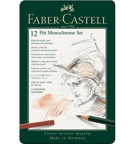 Faber-Castell - Set Pitt Monochrome tin of 12