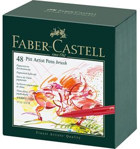 Faber-Castell - Pitt Artist Pen Brush India ink pen, studio box of 48