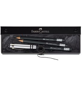 Faber-Castell - Perfect Pencil Fine Writing gift set, black, 3 pcs