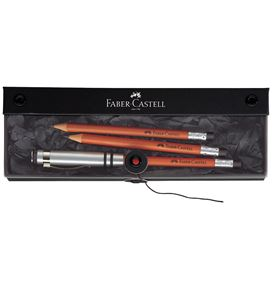 Faber-Castell - Coffret cadeau Crayon Perfect havane + 2 rechanges, havane