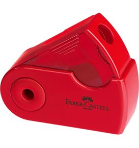 Faber-Castell - Taille-crayon 1 usage Sleeve Mini rouge/bleu